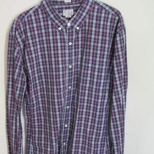J Crew Slim Fit Long Sleeve Plaid Button Down XL